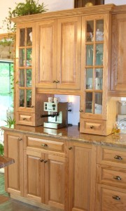 Kitchen - Glass cabinet doors