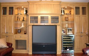 Bookcases, living room furniture, built-in, media