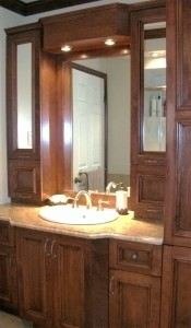 Bathroom - Vanity, mirror, cabinets