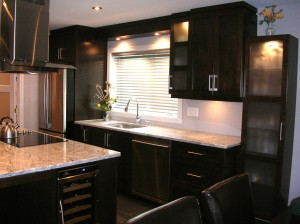 Modern kitchen - Counter, sink, cabinets
