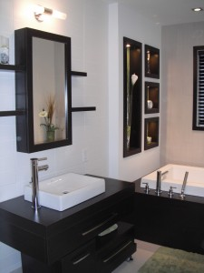 Armoires de salle de bain - Vanité et podium