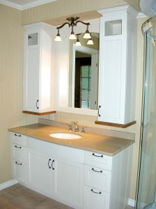 Salle de bain - Vanité, armoires