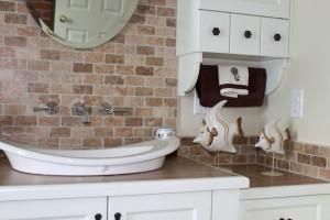 Salle de bain champêtre - Comptoir et vasque