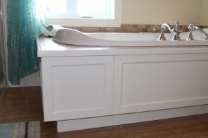 Salle de bain champêtre - Bain podium